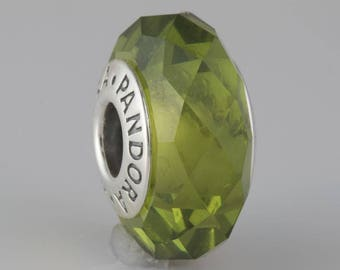 Authentic Pandora Olive Green Pandora Faceted 791729NLG