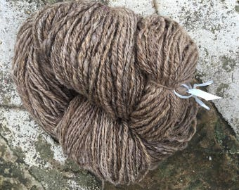 450 g of handspun Brown glossy