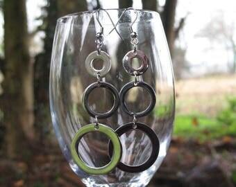 Stainless steel circles earrings
