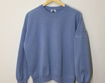 RARE!! Vintage Champion Product Spellout Sweatshirt Champion Small Logo Embroidery Pullover Jumper Sweater