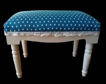Kids bench blue and ivory