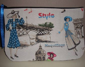 Large pouch Vintage retro chic
