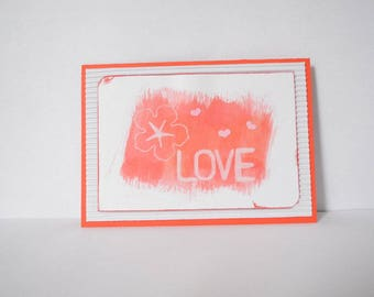 """Love"" - corrugated cardboard card"