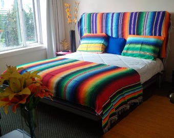 RASP Mexican multicolor cotton washable machine multipurpose bedroom living room bed cover