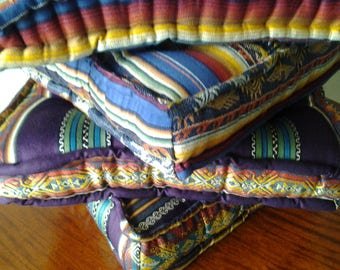 LOUNGE CUSHIONS COLLECTION: FLOOR CUSHIONS COVERS COMPLETELY HAND STITCHED