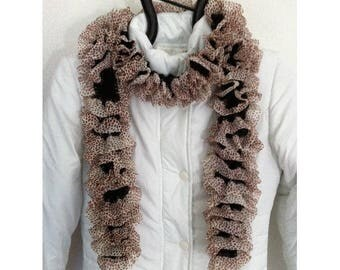 Acrylic and polyester scarf by BAGART knit scarf