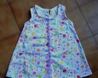 Mushrooms pattern girl pinafore dress