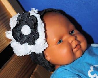 Denim flower headband