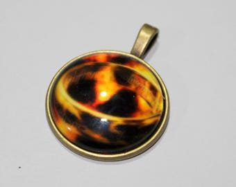 x 1 Cabochon mounted - ring ring Game Of Thrones - on metal color bronze