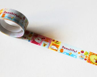 Masking tape - Manga characters - length 2.50 m - Scrapbooking card making, Home Deco