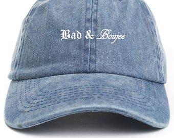 Bad & Boujee Dad Hat Adjustable Baseball Cap New - Denim