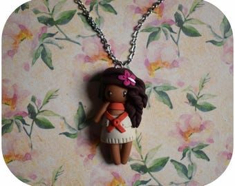 "Necklace Princess ""hair brown, beige dress"" Thomas (Princess collection)"