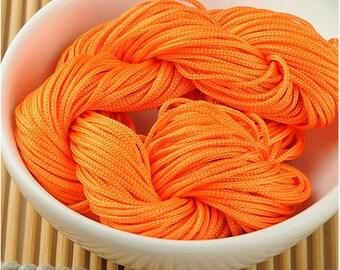 Neon orange macrame craft 30 meters wire
