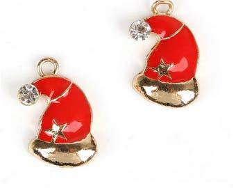 Set of 5 Christmas Hat charms