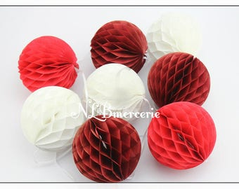 Paper honeycomb - 3 models available ball Garland