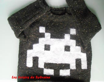 sweater with pixel pattern