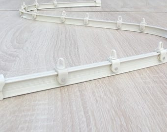 Mini - Rail curtain Cintrable hand - finish white - full Set - 500 gr