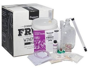 1 Gallon Fruit Wine Making DIY Home Brew Equipment Kit