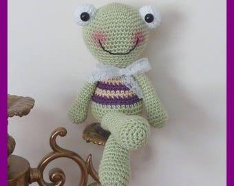 Frog, crochet, Amigurumi plush