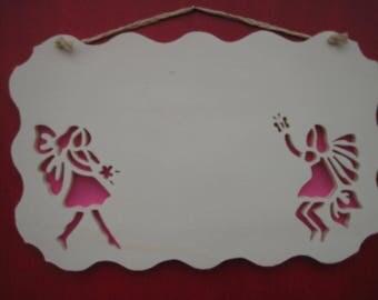 personalized door plate, fairies