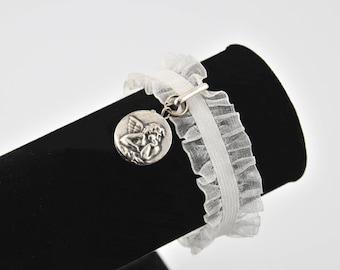 Curly Ribbon elastic and angel bracelet
