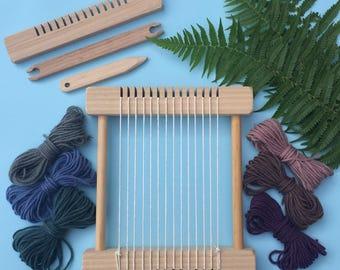 """Weaving Loom Craft Kit -""""Little Owl - Natural"""" Children's Small Steiner Inspired"""