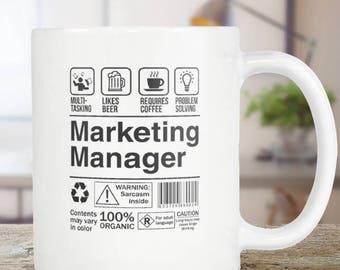 Marketing Manager Coffee Mug Funny Tea Cup Gift Idea