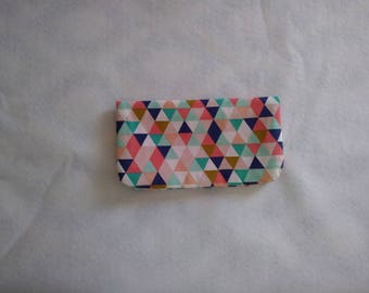 Triangle Print Checkbook Cover