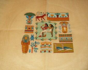 Egyptian fresco in cross stitch