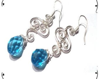 Earrings Silver 925/1000 and Crystal