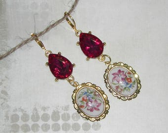 Baroque flowers earrings