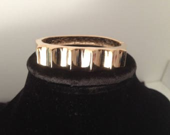 Wave Bangle plated gold