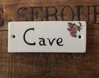 """""""Cave"""" door plate No. 2"""