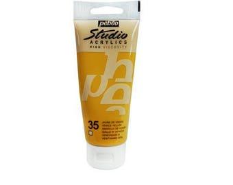 "Acrylic painting 100 ml ""Yellow Venice"" High Viscosity - Pébéo Studio Acrylics - Ref 831-035 - until the stock!"
