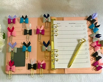 CUSTOM Bow Paper Clip|YOU choose your own color ribbon, paper clip AND bow color