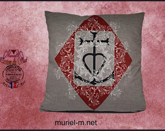 Camargue cross pillow