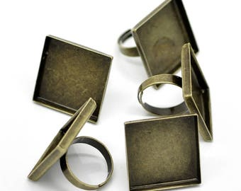 25 x 25 mm 1 ring square ring