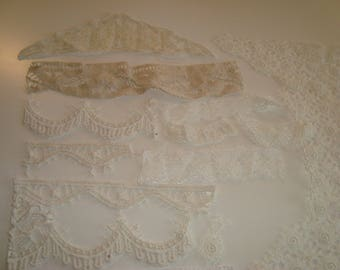 Set of lace in bulk various materials and colors