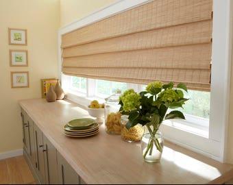 extra wide window shade woven shades custom woven wood shades bamboo shades cordless blackout option rattan