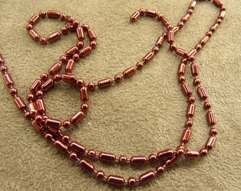 Metal chain - 0.2 cm - Red