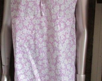 light light cotton tunic bottom Parma flowers decor