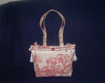 French toile de jouy tote bag