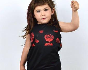 T-shirt baby girl Carnation Print-t-shirt child print CLÁVELES