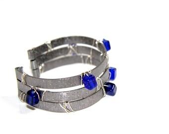 Pearl Cuff Bracelet - aluminum