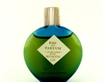 Vintage Mini Perfume Worth Je Reviens 7 ml 0.24 oz Eau de Parfum Lalique bottle