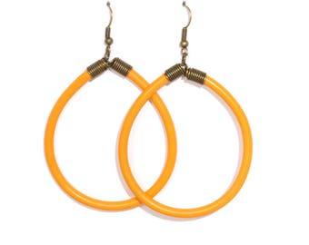 Earrings from recycled electrical wire