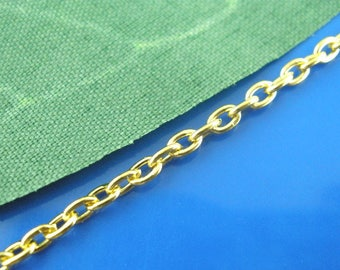 Chain link gold 3x2mm - SC03382 - 10 m