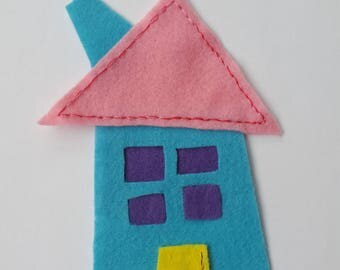 House, Flat Felted House, Decorative object, baby