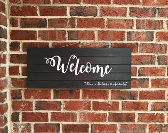 Customized Wood Welcome sign