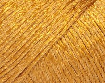 Cotton viscose DROPS, 04 mustard color